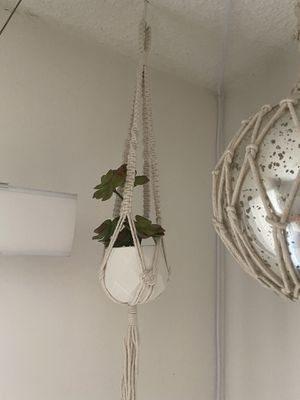 Macrame hanging wall Plants (fake plants) for Sale in Los Angeles, CA