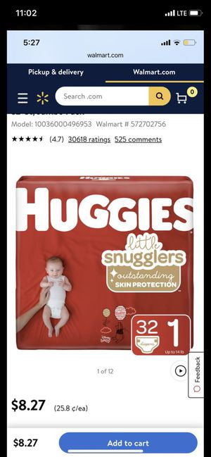 Huggies Size 1 (64count) for Sale in Las Vegas, NV