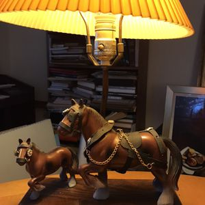 Plastic Vintage Clydesdale Horse Lamp for Sale in Bethesda, MD