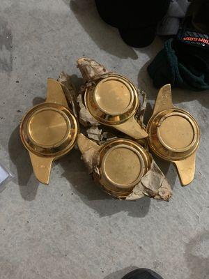 Gold 4 rim cap centers for Sale in Eureka, CA