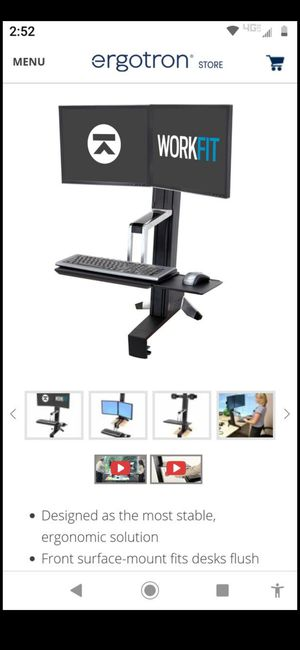 Dual monitor stand ergonomical for Sale in Mesa, AZ