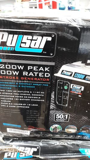 Pulsar 1200w 2 stroke generator for Sale in Joplin, MO
