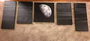 Black & White Moon Wall Decor for Sale in Washington, DC
