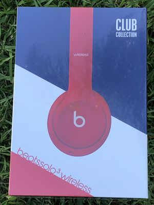 Beats Solo3 Wireless Headphones- Red for Sale in Los Angeles, CA