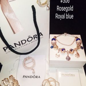 New Royal blue &Rosegold Pandora bracelet for Sale in Columbus, OH