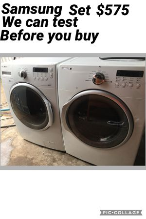 Samsung washer and dryer for Sale in Dallas, TX