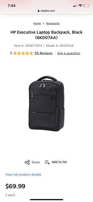 HP Executive 15.6 backpack for Sale in West Valley City, UT
