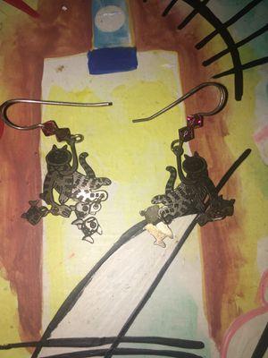 Cat sterling earrings for Sale in Los Angeles, CA