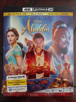 ALADDIN (4K + BLU RAY) ***SEE OTHER POSTS*** for Sale in El Cajon, CA