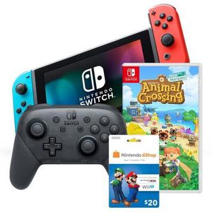 Nintendo Switch V2 + Animal Crossing + Wireless Pro Controller + $20 Nintendo eShop Card Bundle - UNOPENED IN BOX for Sale in Orlando, FL