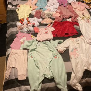 Baby Girl Clothes Size 0-3 and Some Newborn And Socks for Sale in Seattle, WA