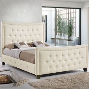 Modway Claire Bed Frame, Queen, Ivory for Sale in Broadview Heights, OH