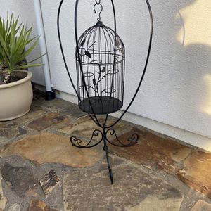 Hanging bird Cage stand decorative for Sale in Roseville, CA