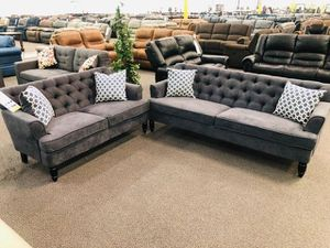Small 2pcs compact sofa set👇 for Sale in Ontario, CA