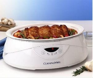 RARE CorningWare 4qt 10hr programmable slow cooker & server for Sale in Roy, WA