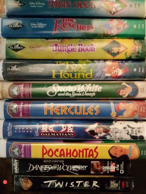 Walt Disney Black diamond classic VHS Robin Hood and more.. for Sale in Anderson, SC
