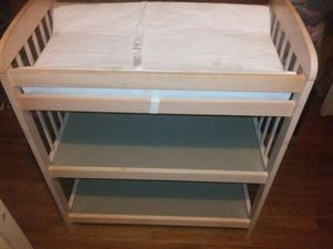 Changing table. With mattress pad and strap. Reinforced. Wide 33.5 in. Height 38.5 in. Deep 19.5 in for Sale in Ontario, CA