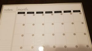 Dry Erase Board Monthly Calendar for Sale in Columbus, OH