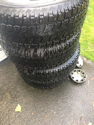 New studded snow tires for Sale in Duvall, WA