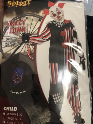 Child Krazy Clown Costume for Sale in Los Angeles, CA