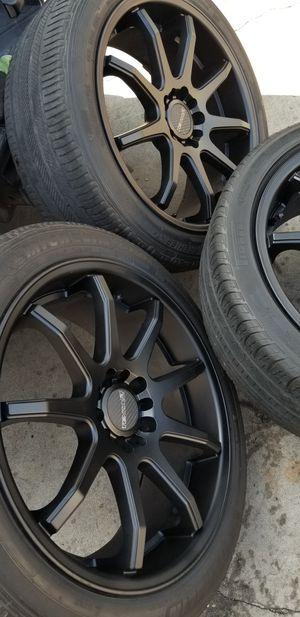 "19"" inch Tenzo R Racing wheels 5 lug universal for Sale in El Monte, CA"