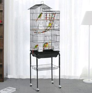 Rolling Metal Bird Cage with stand (New in Box) for Sale in West Park, FL