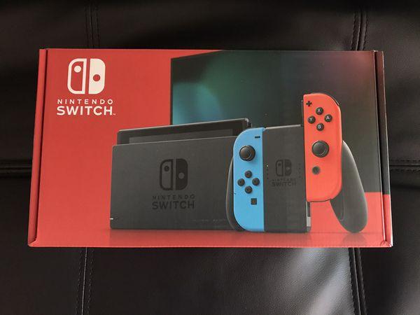 Nintendo switch v2 neon NEW