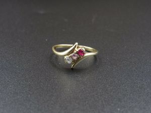 Size 6.5 10K Gold Sapphire Ruby & CZ Band Ring Vintage Estate Wedding Engagement Anniversary Gift Idea Beautiful Elegant Unique Cute Cool for Sale in Everett, WA