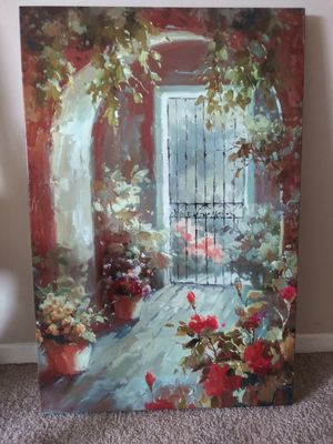 Large 24×36 Garden Canvas Art Painting for Sale in Brunswick, OH