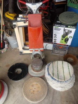 commercial floor scrubber and buffer 12in and 16in with pads and drive blocks for Sale in Phoenix, AZ