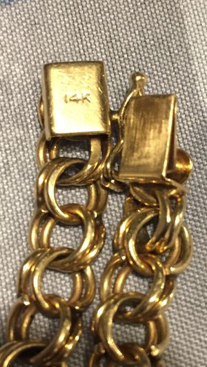 14k gold chino link bracelet 8 1/2 inches long 15.6 grams 1/4 thick $550 for Sale in Houston, TX