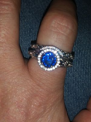 South African Ore Manufacturing 100% Genuine 14k White Gold Filled Wedding Ring Set for Sale in Las Vegas, NV