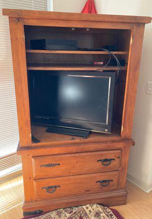 Oak Armoire - TV Stand for Sale in Atlanta, GA