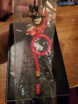 Reusable Disney Parks Elastigirl Jack Jack Pixar Fest Pier Incredibles straw for Sale in Pico Rivera, CA