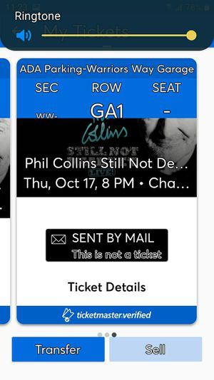 Phil Collins tickets for Sale in Sacramento, CA