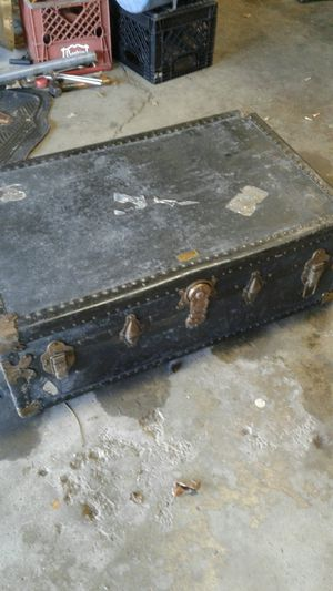 antique chest coffee table size never break trunks Newark New Jersey for Sale in Columbus, OH