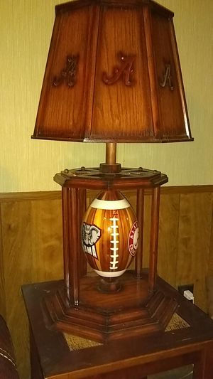 1 of a kind Alabama football lamp for Sale in Prattville, AL