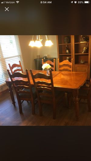 Kitchen table with 6 chairs. Solid wood. for Sale in Normal, IL