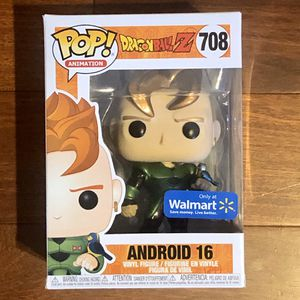 Funko POP! Android 16, Dragonball Z Walmart Exclusive, NEW for Sale in Santa Clarita, CA