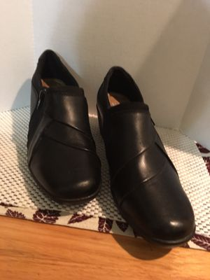 BEAUTIFUL BLACK LEATHER WOMEN SHOES for Sale in Las Vegas, NV