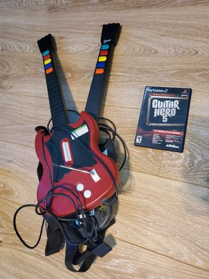 Guitar Hero 5 PS2 Bundle with 2 Guitars for Sale in Phoenix, AZ