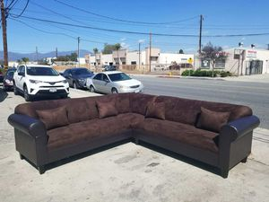 NEW 7X9FT DARK BROWN MICROFIBER COMBO SECTIONAL COUCHES for Sale in Moreno Valley, CA