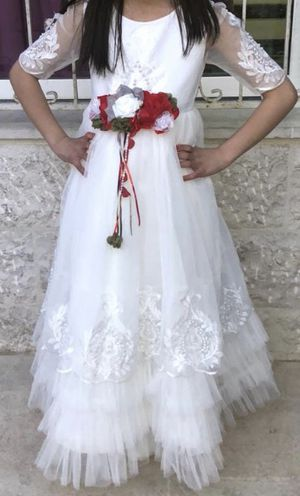 Flower Girl White Wedding Dress for Sale in Chicago, IL