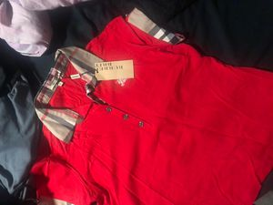 Girls red Burberry collar shirt 2xl for Sale in Dallas, TX