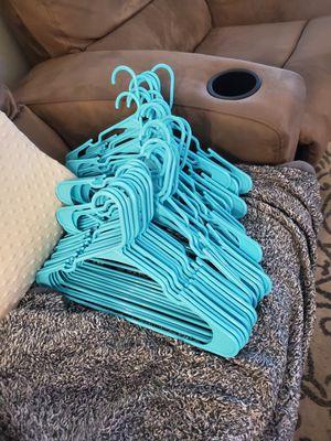 41 Teal Plastic Hangers - Adult Size for Sale in Phoenix, AZ