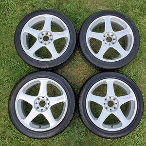 "17"" JDM WORK Ewing RSZ Japan Wheels Rims 4x114.3 vintage 215/45/17 tires for Sale in Sacramento, CA"