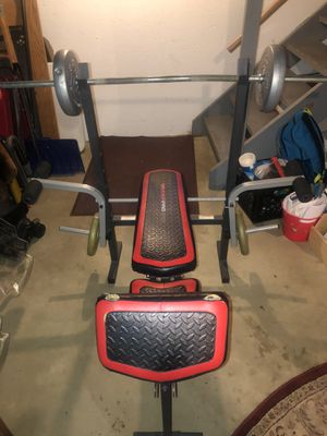 Weight Bench (weights included) for Sale in Clinton Township, MI
