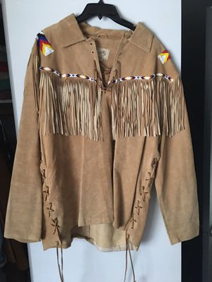 Leather fringe beaded Indian shirt for Sale in Dallas, TX