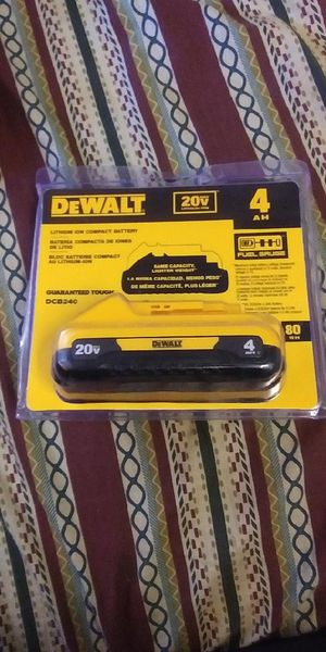 DeWalt 20 Volt 4 AH lithium ion battery for Sale in Campbell, CA