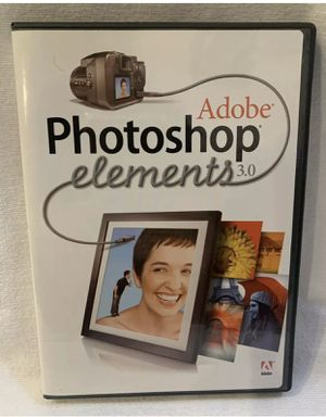 Adobe Photoshop Elements 3.0 For Windows with Serial Number for Sale in Los Angeles, CA